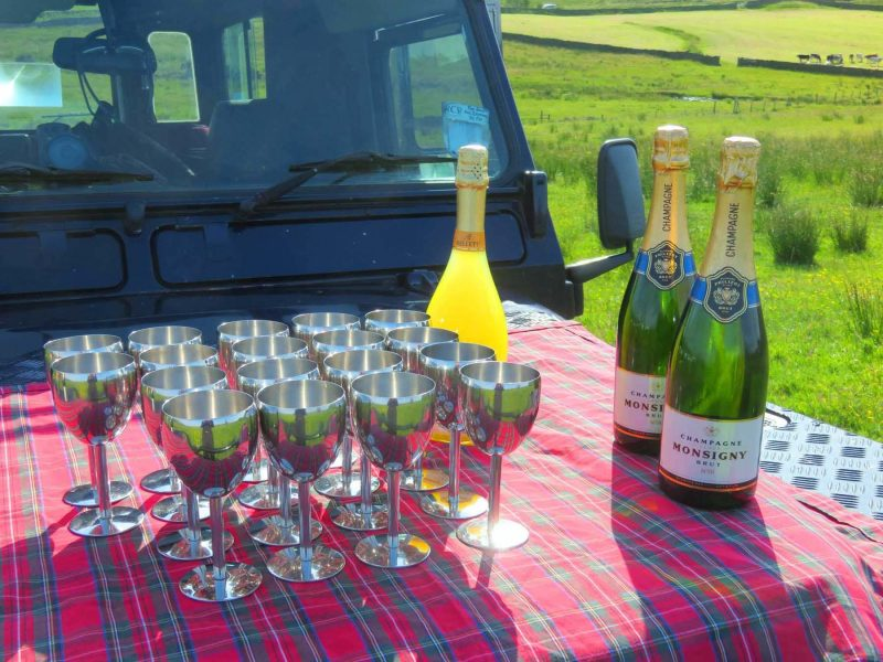Champagne Celebration after your Lutterworth Balloon Ride