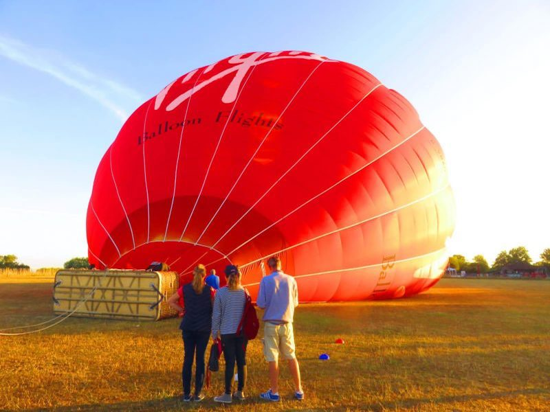 Inflating your Lutterworth Champagne Balloon